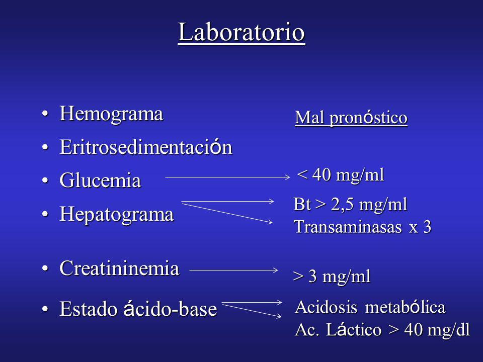 Laboratorio Hemograma Eritrosedimentación Glucemia Hepatograma