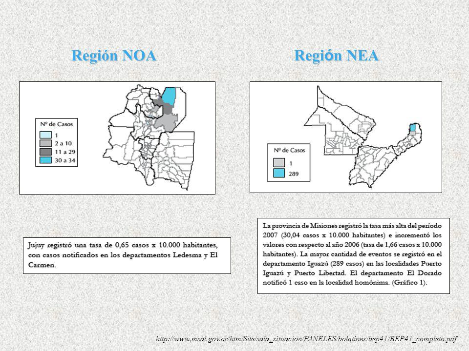 Región NOA Región NEA.