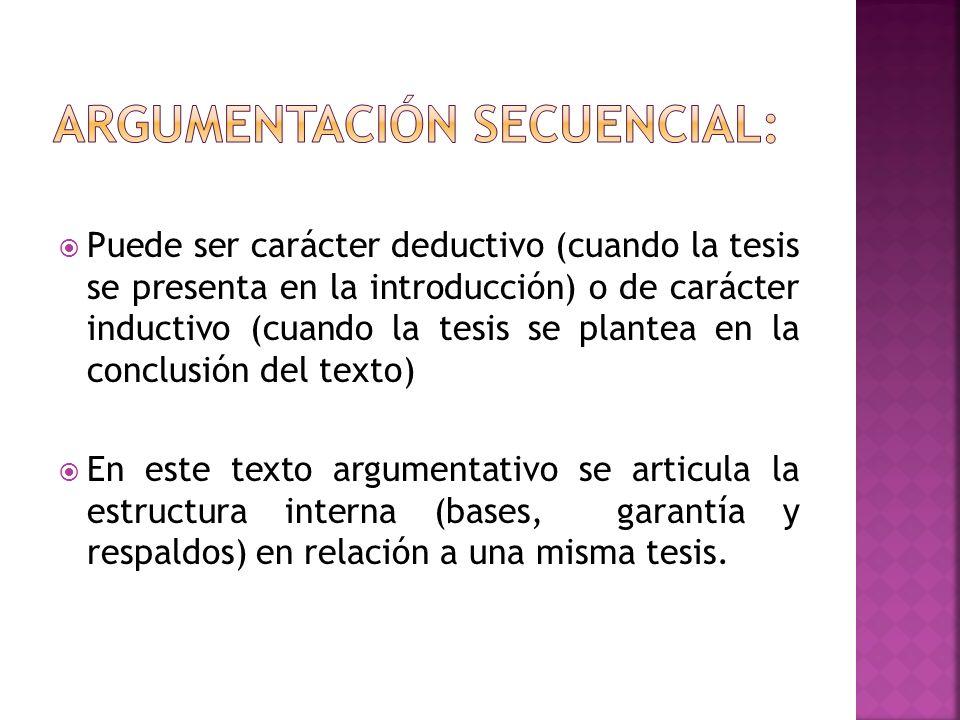 Argumentación secuencial: