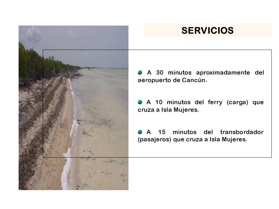 SERVICIOS A 30 minutos aproximadamente del aeropuerto de Cancún.