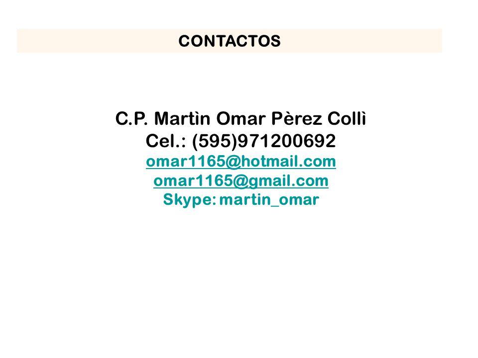 C.P. Martìn Omar Pèrez Collì
