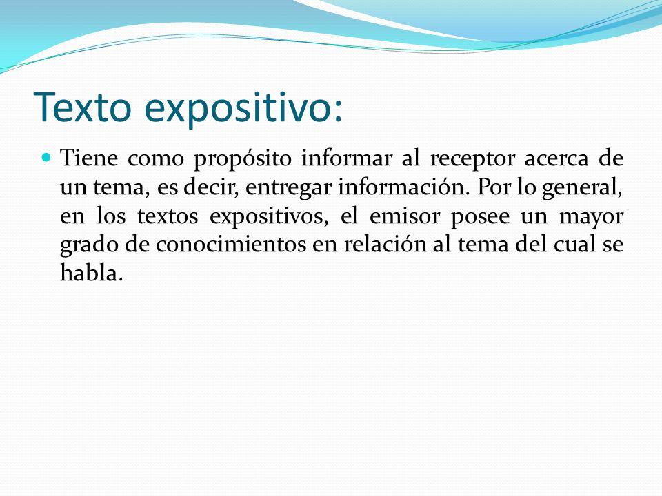 Texto expositivo: