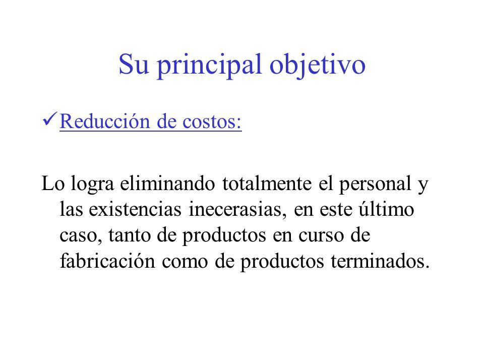 Su principal objetivo Reducción de costos:
