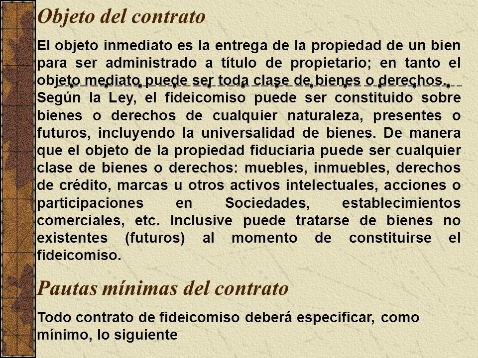 Pautas mínimas del contrato