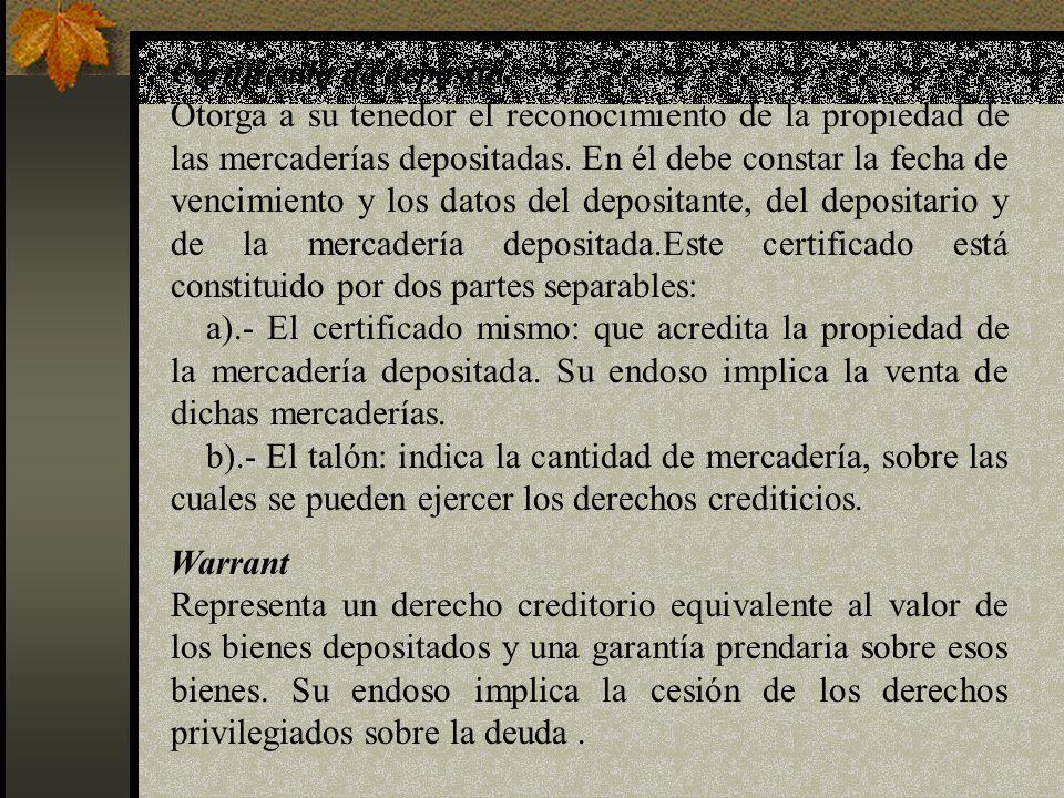Certificado de depósito