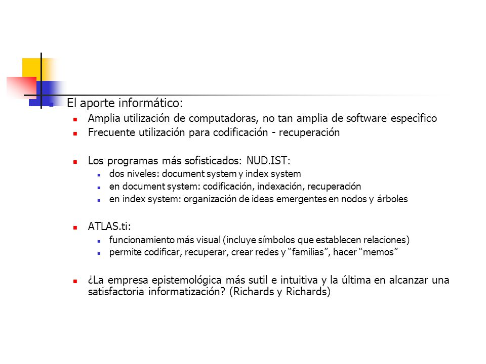 El aporte informático: