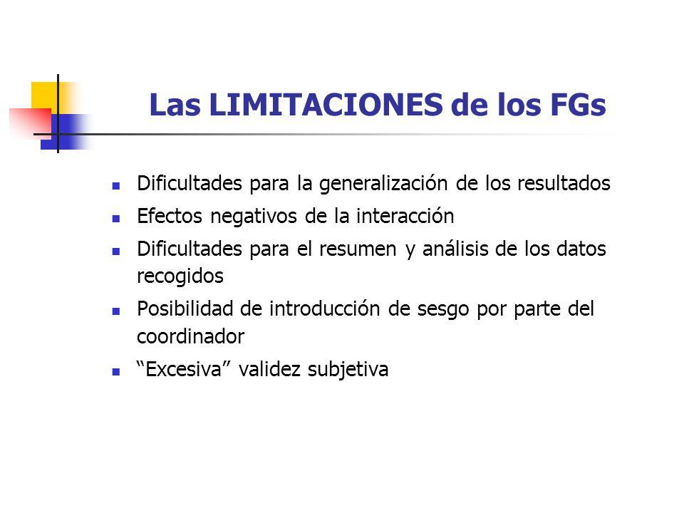 Las LIMITACIONES de los FGs
