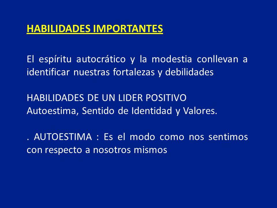 HABILIDADES IMPORTANTES
