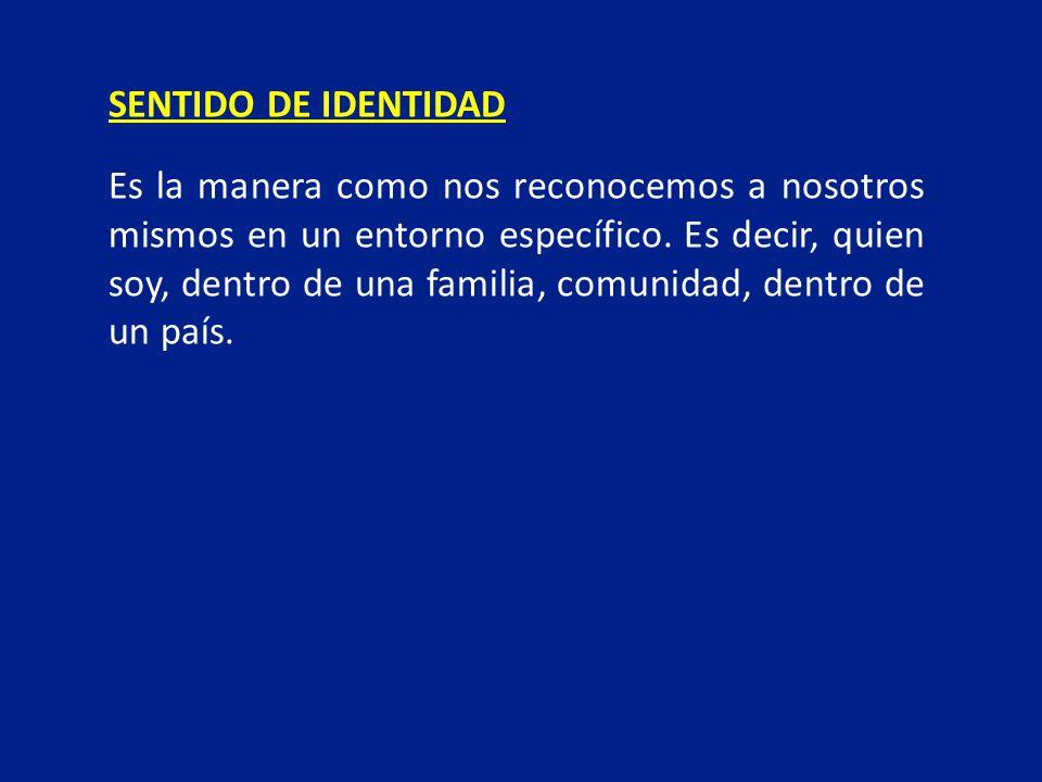 SENTIDO DE IDENTIDAD