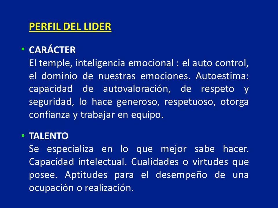 PERFIL DEL LIDER CARÁCTER