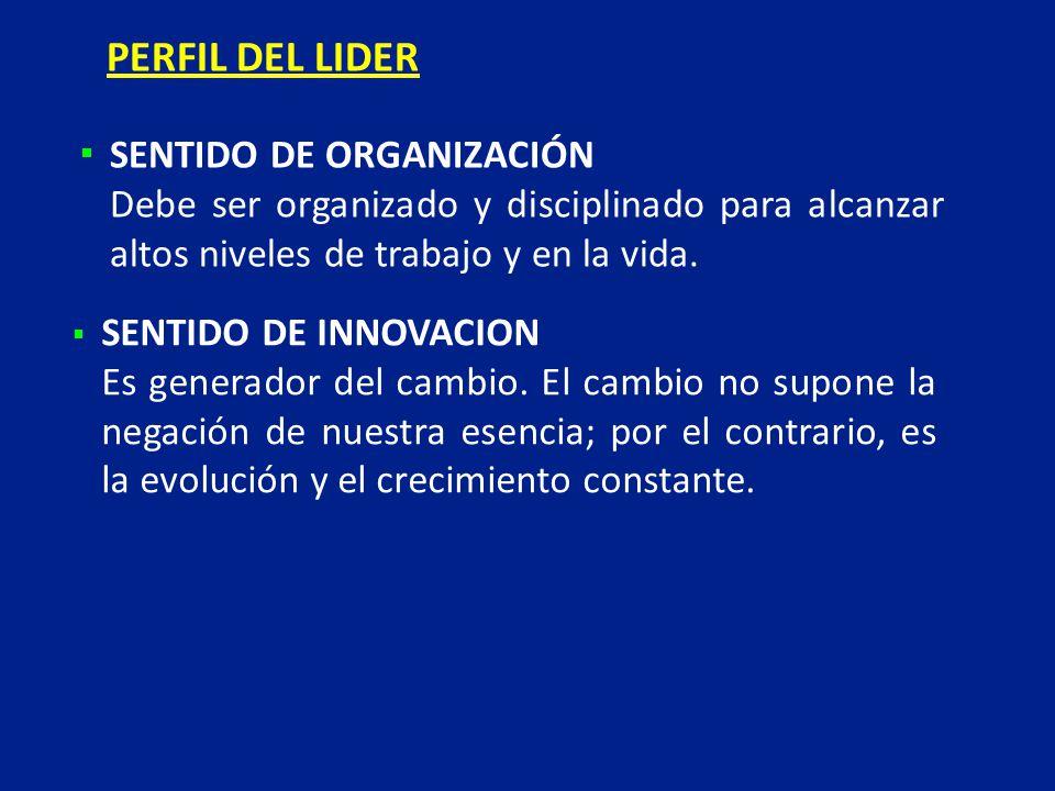 PERFIL DEL LIDER SENTIDO DE ORGANIZACIÓN