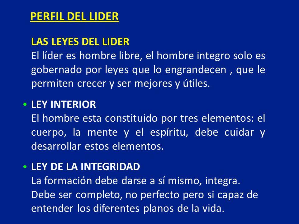 PERFIL DEL LIDER LAS LEYES DEL LIDER