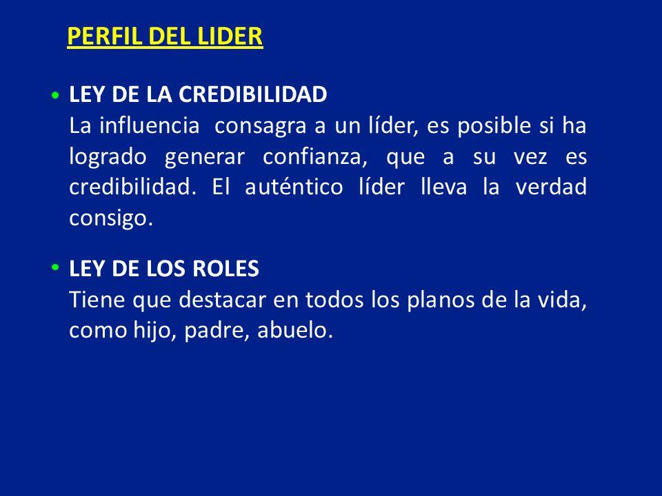 PERFIL DEL LIDER LEY DE LA CREDIBILIDAD
