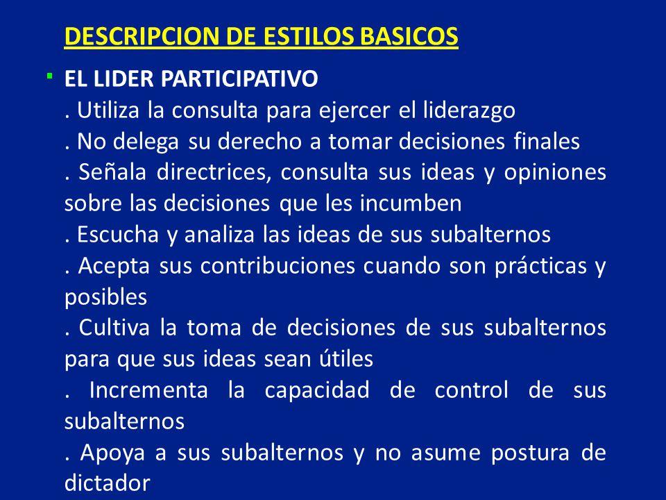 DESCRIPCION DE ESTILOS BASICOS