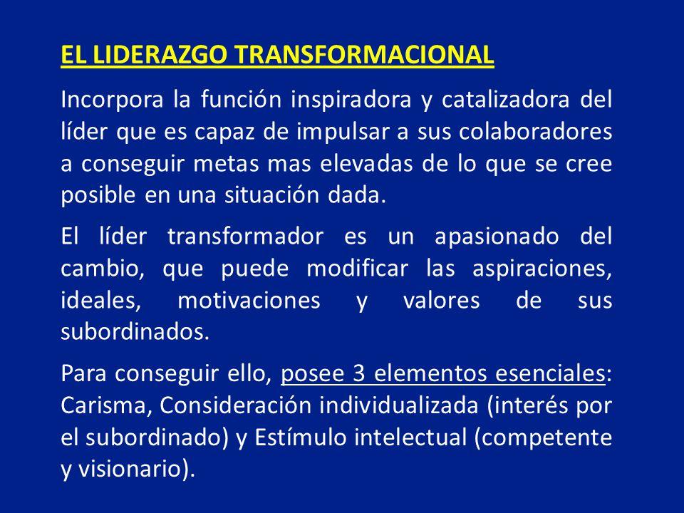 EL LIDERAZGO TRANSFORMACIONAL