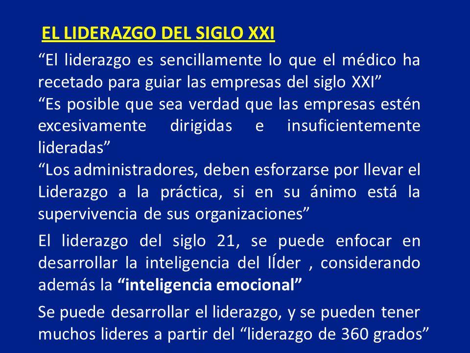 EL LIDERAZGO DEL SIGLO XXI