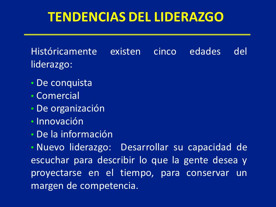 TENDENCIAS DEL LIDERAZGO