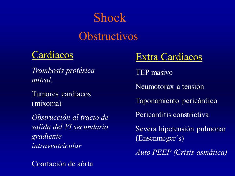Shock Obstructivos Cardíacos Extra Cardíacos