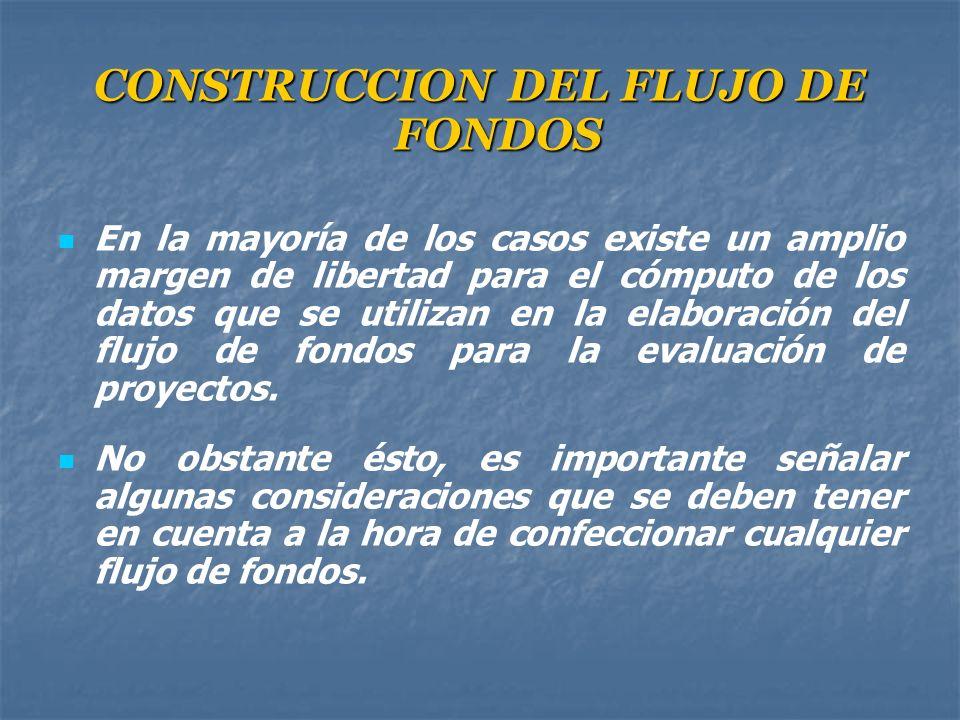 CONSTRUCCION DEL FLUJO DE FONDOS