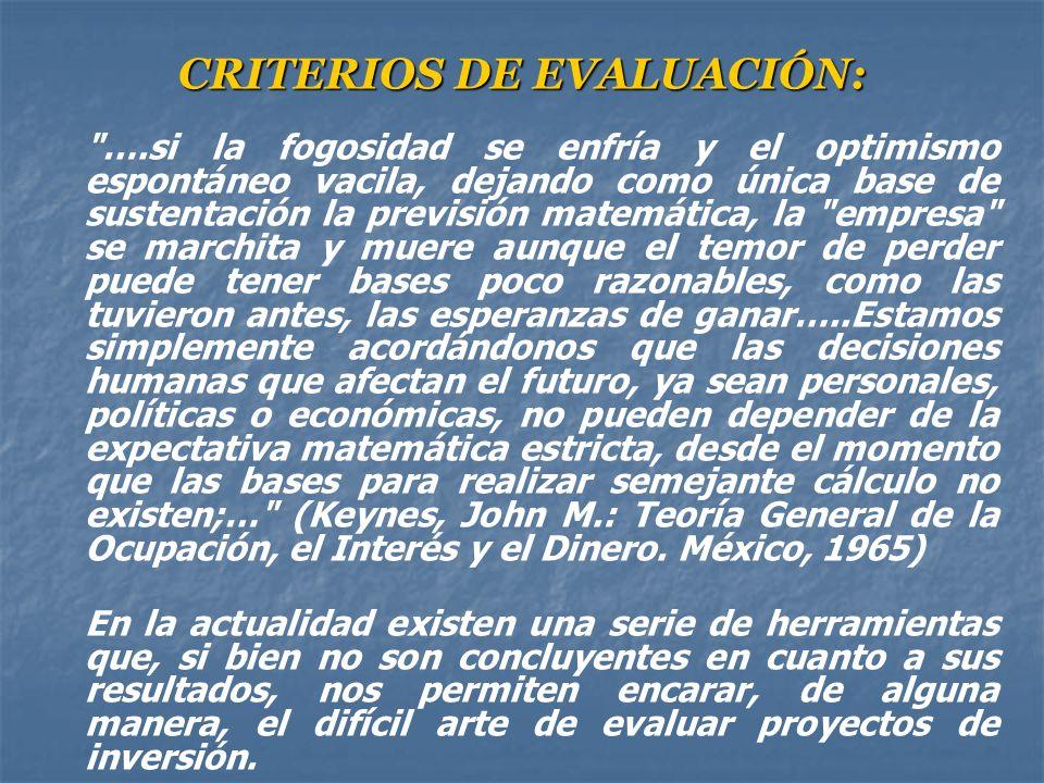 CRITERIOS DE EVALUACIÓN: