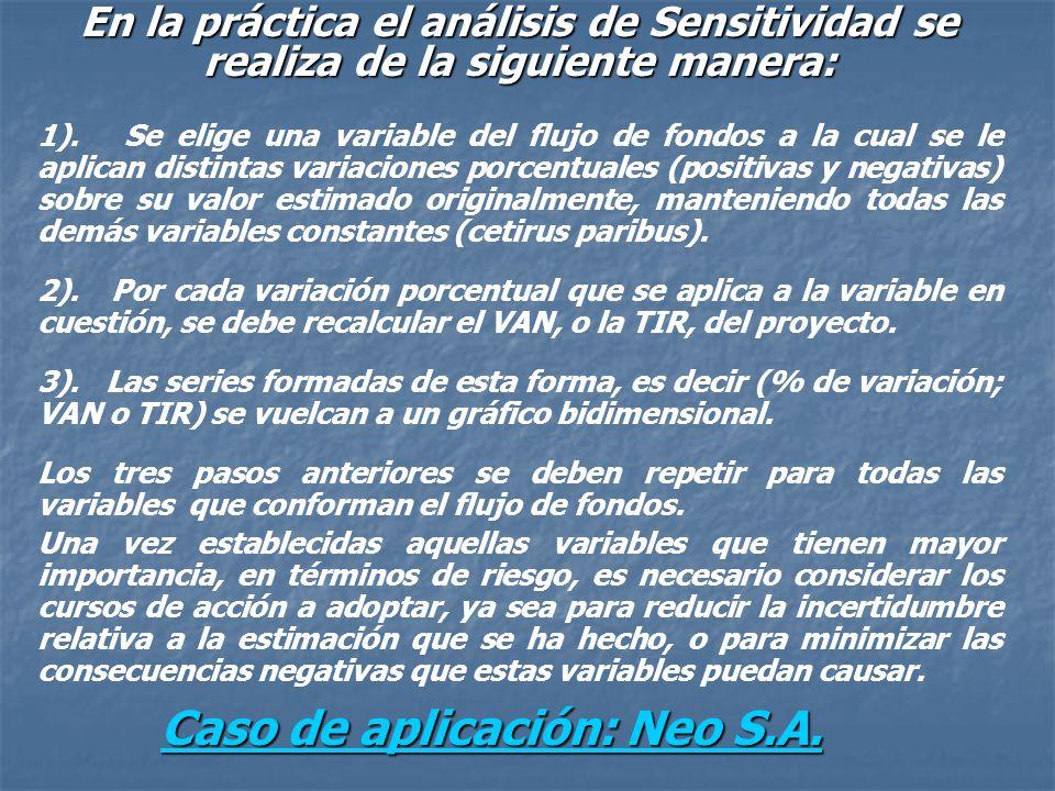 Caso de aplicación: Neo S.A.