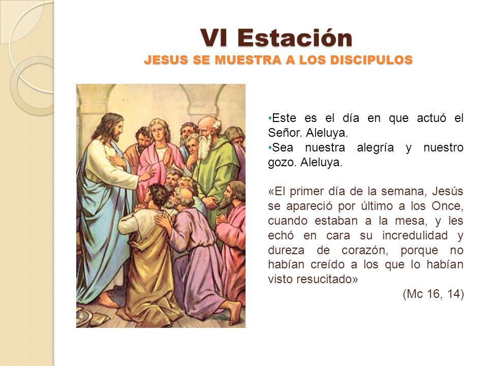 VI Estación JESUS SE MUESTRA A LOS DISCIPULOS