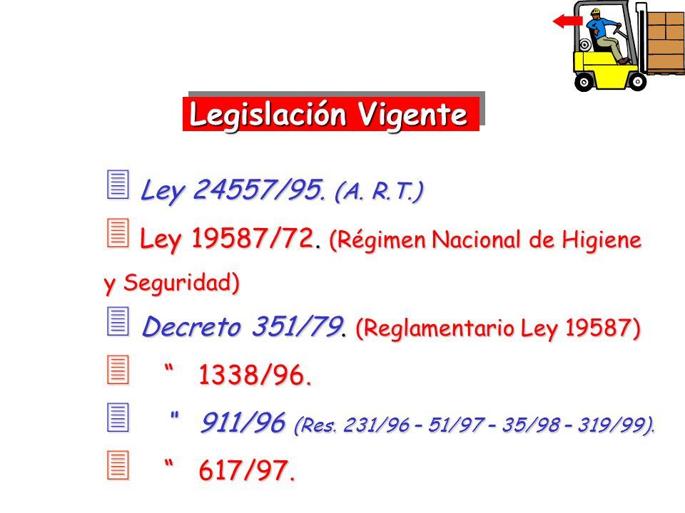 Legislación Vigente Ley 24557/95. (A. R.T.)