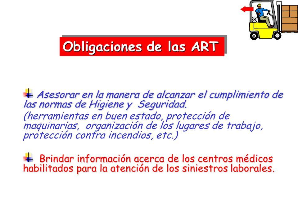 Obligaciones de las ART