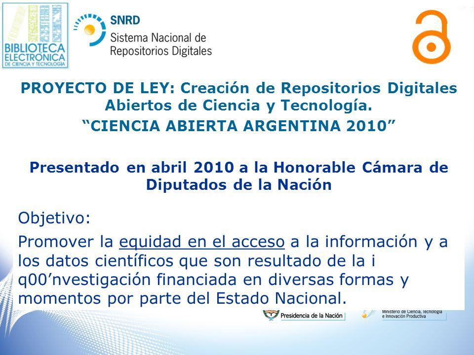 CIENCIA ABIERTA ARGENTINA 2010