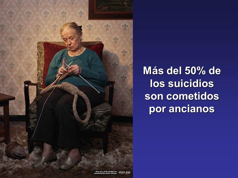 Más del 50% de los suicidios son cometidos por ancianos