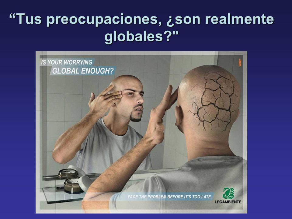 Tus preocupaciones, ¿son realmente globales