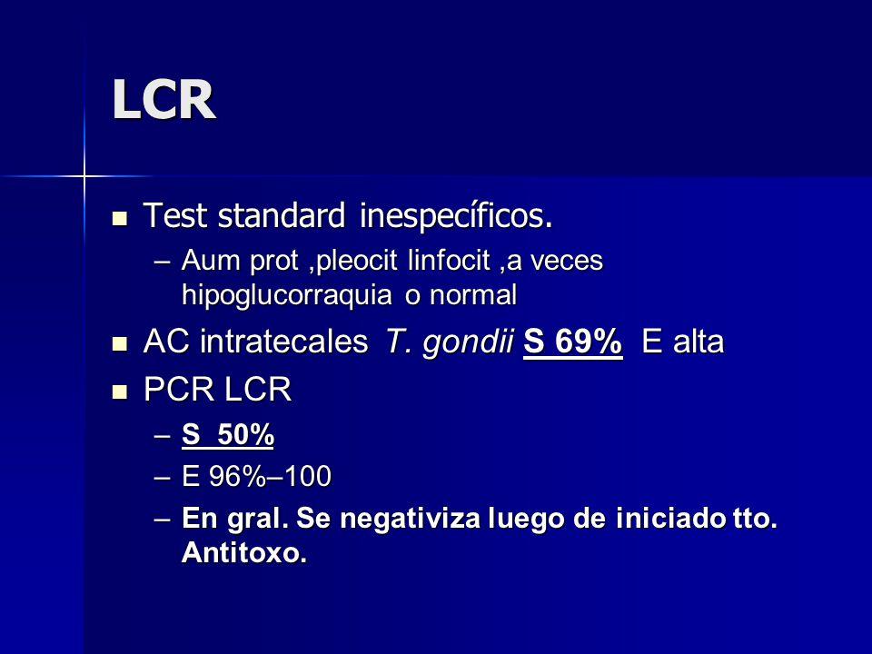 LCR Test standard inespecíficos.