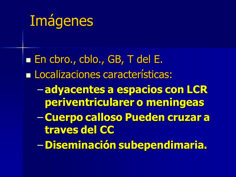 Imágenes En cbro., cblo., GB, T del E. Localizaciones características: