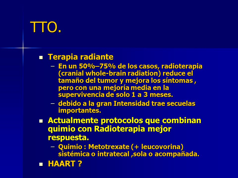 TTO. Terapia radiante.
