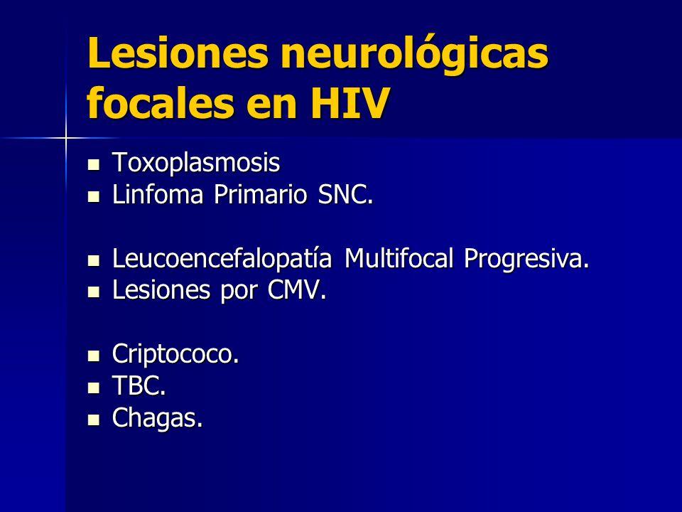 Lesiones neurológicas focales en HIV