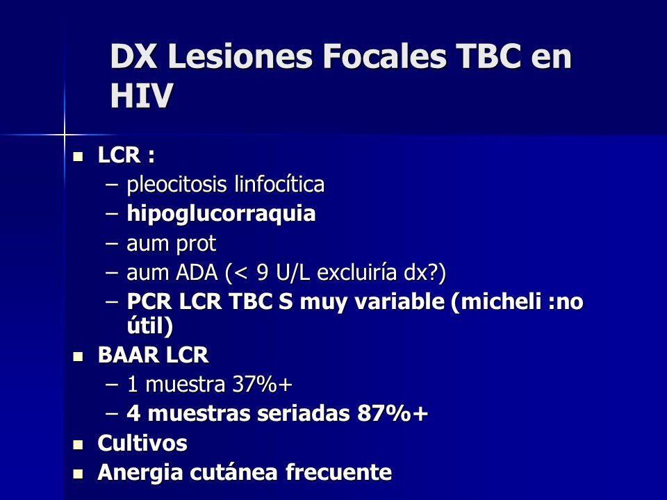 DX Lesiones Focales TBC en HIV
