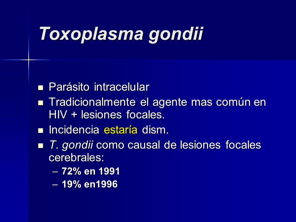 Toxoplasma gondii Parásito intracelular