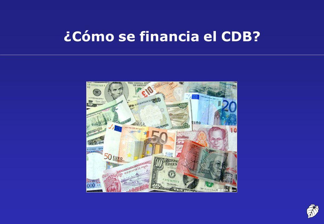 ¿Cómo se financia el CDB