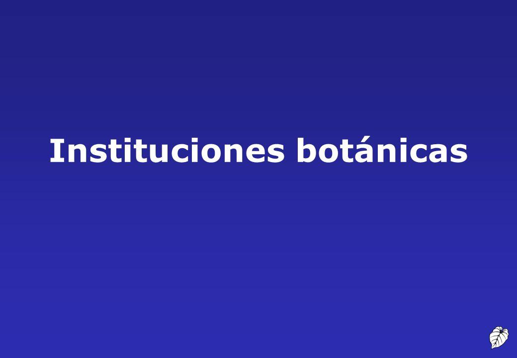 Instituciones botánicas