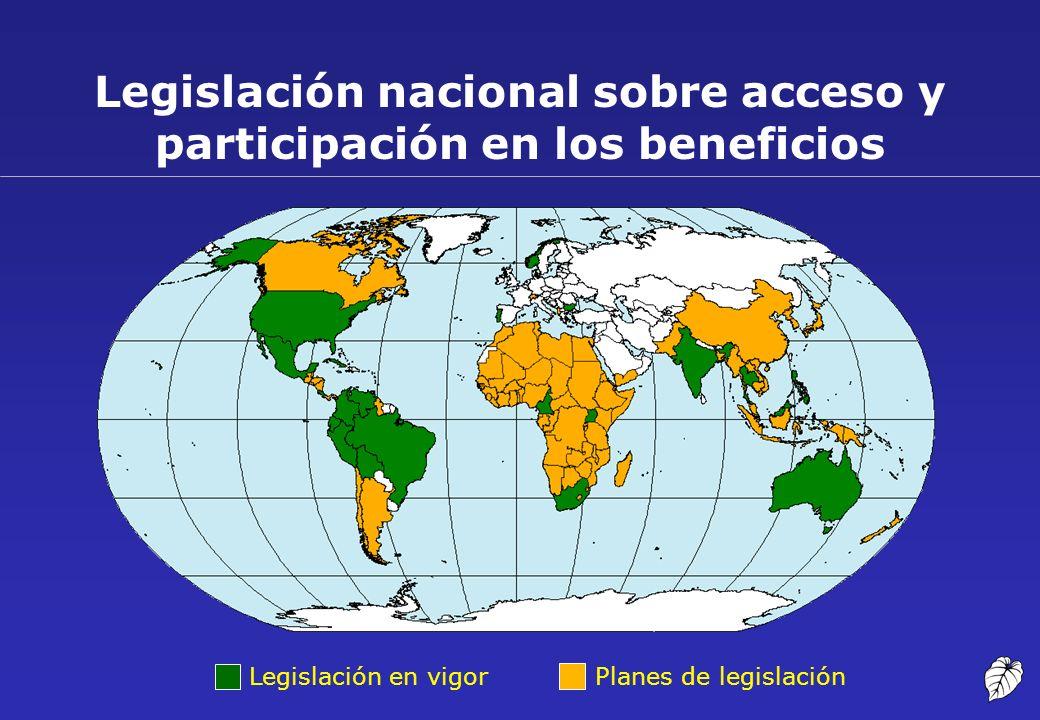 Legislación nacional sobre acceso y participación en los beneficios