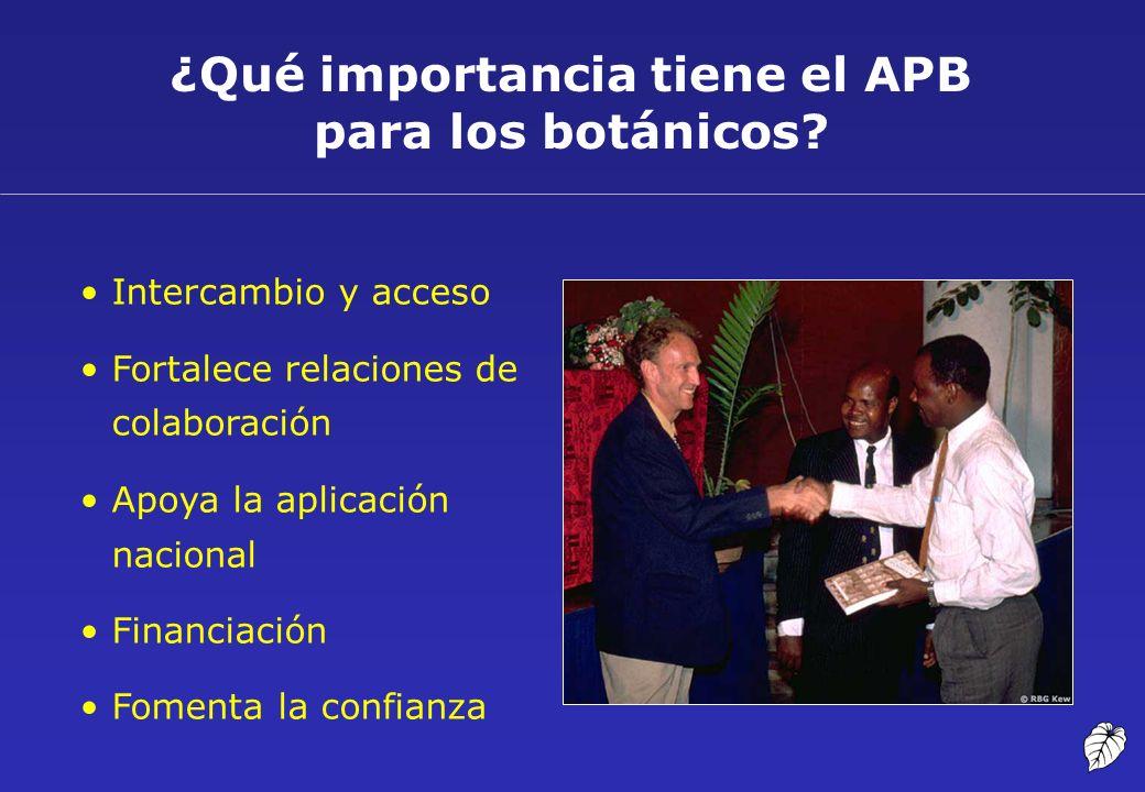 ¿Qué importancia tiene el APB para los botánicos