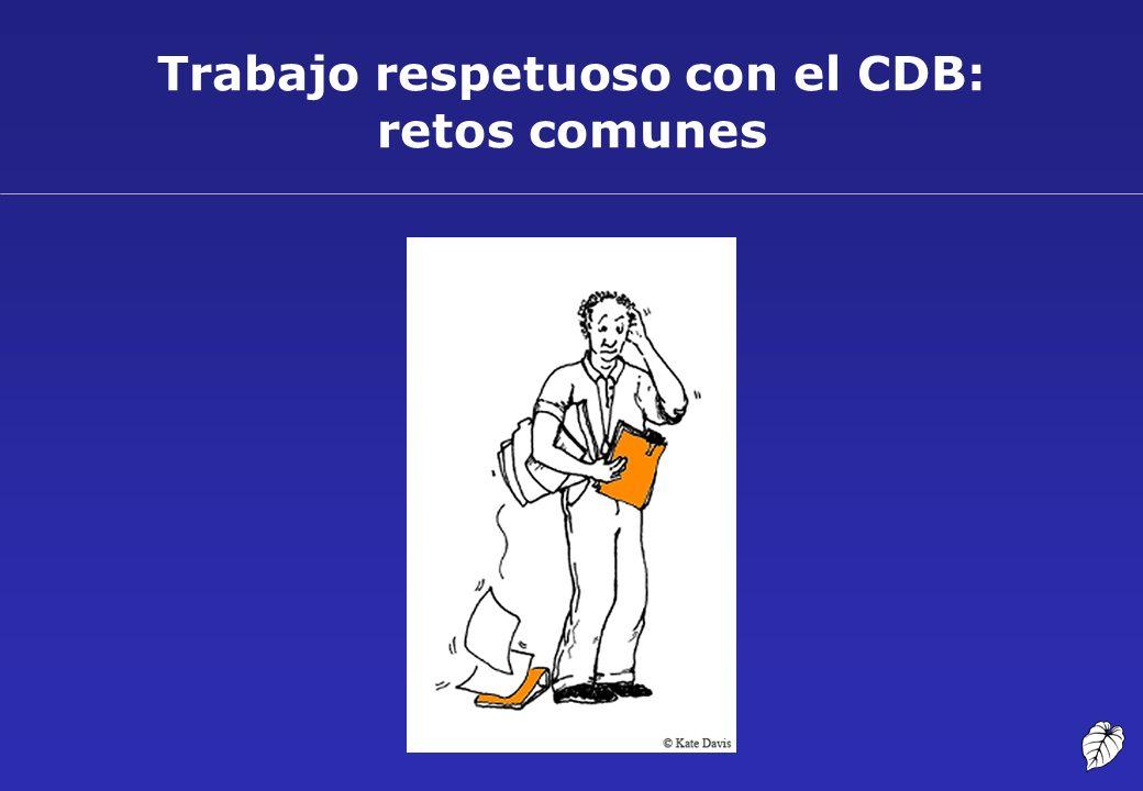 Trabajo respetuoso con el CDB: retos comunes