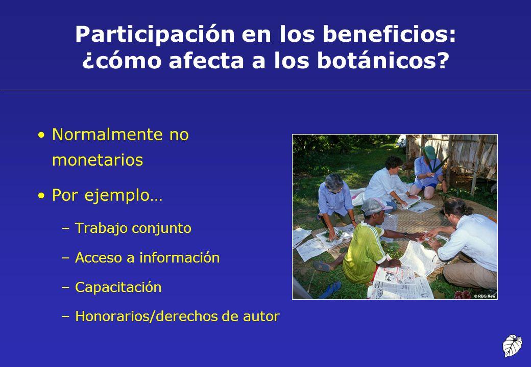 Participación en los beneficios: ¿cómo afecta a los botánicos
