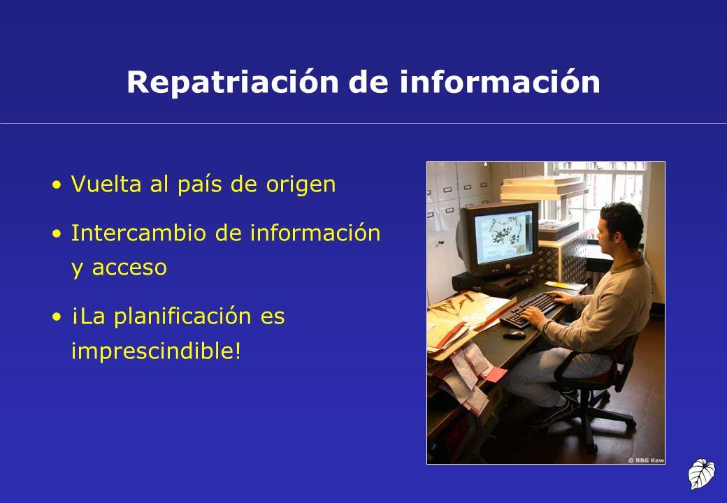 Repatriación de información