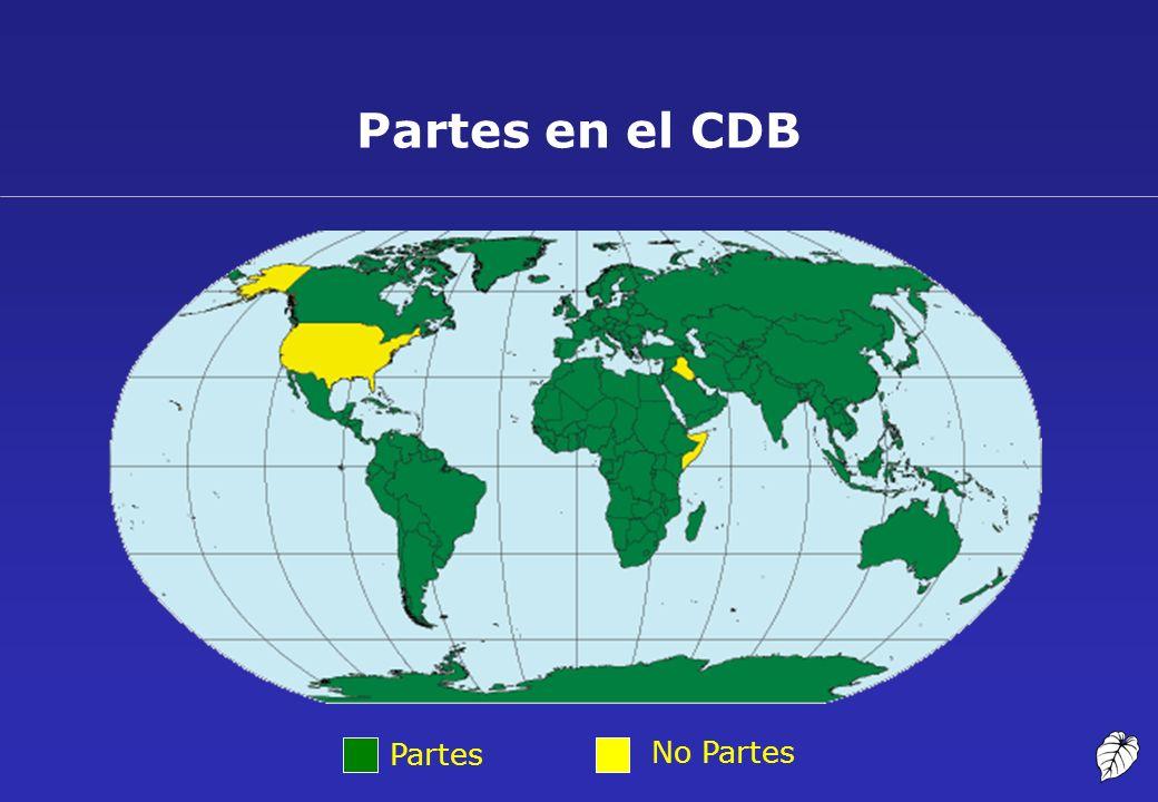 Partes en el CDB Partes No Partes Introducción 6