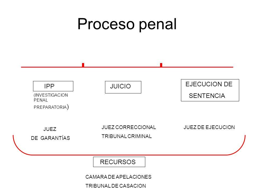 Proceso penal EJECUCION DE SENTENCIA IPP JUICIO RECURSOS
