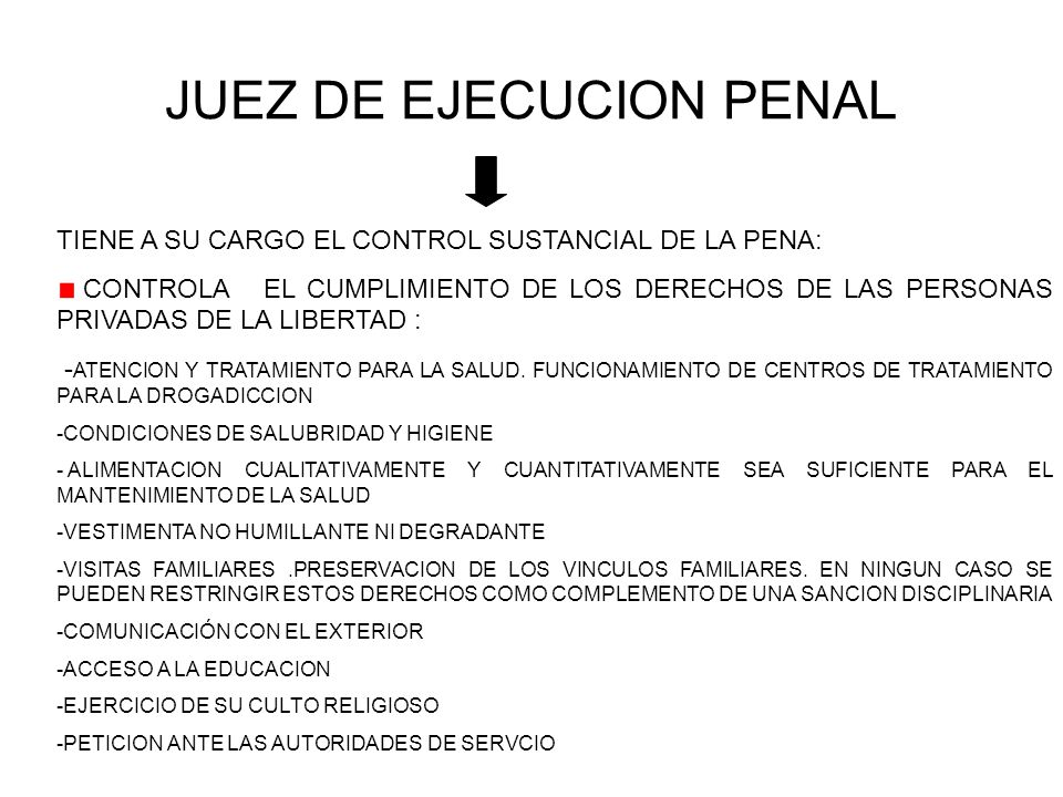 JUEZ DE EJECUCION PENAL