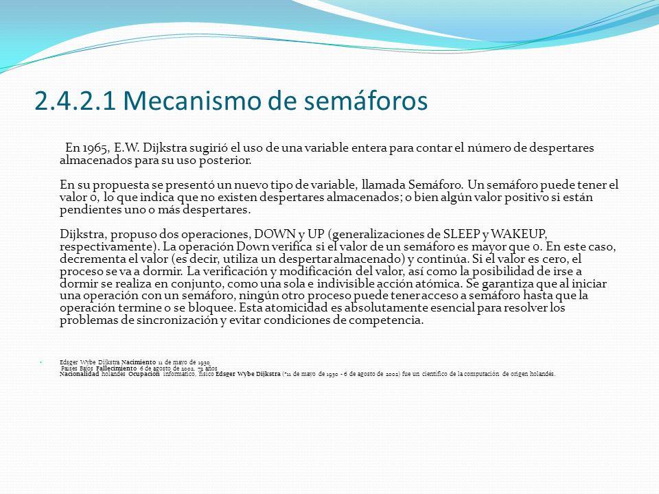 2.4.2.1 Mecanismo de semáforos