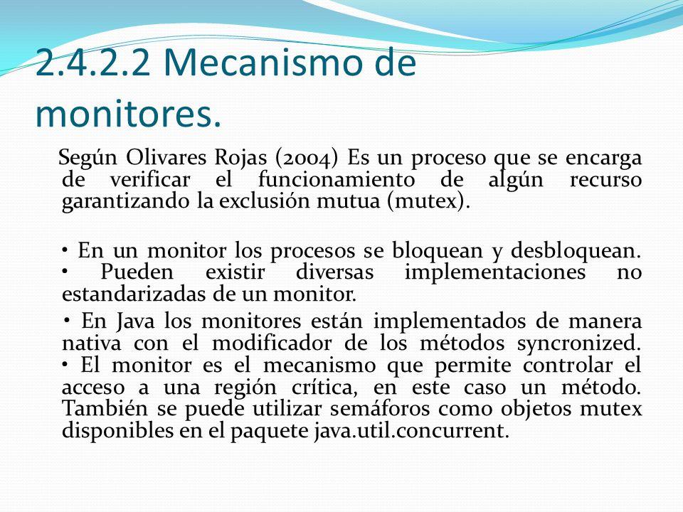 2.4.2.2 Mecanismo de monitores.