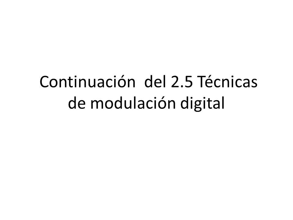 Continuación del 2.5 Técnicas de modulación digital